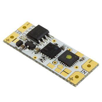 Stmívač pro LED pásky 12/24V, 7,5A, bezdotykový, do profilu, žlutá LED (FK Stmívač pro LED pásky 12/24V, 7,5A, bezdotykový, do profilu)