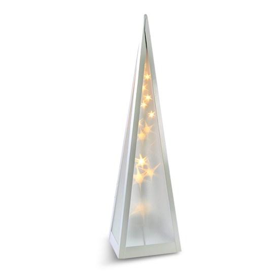 Solight LED vánoční pyramida, otáčecí, 3D efekt světla, 45cm, 230V, teplá bílá (Solight LED vánoční pyramida, 45cm, 230V, )